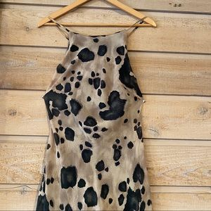 Vintage animal print maxi slip dress size small